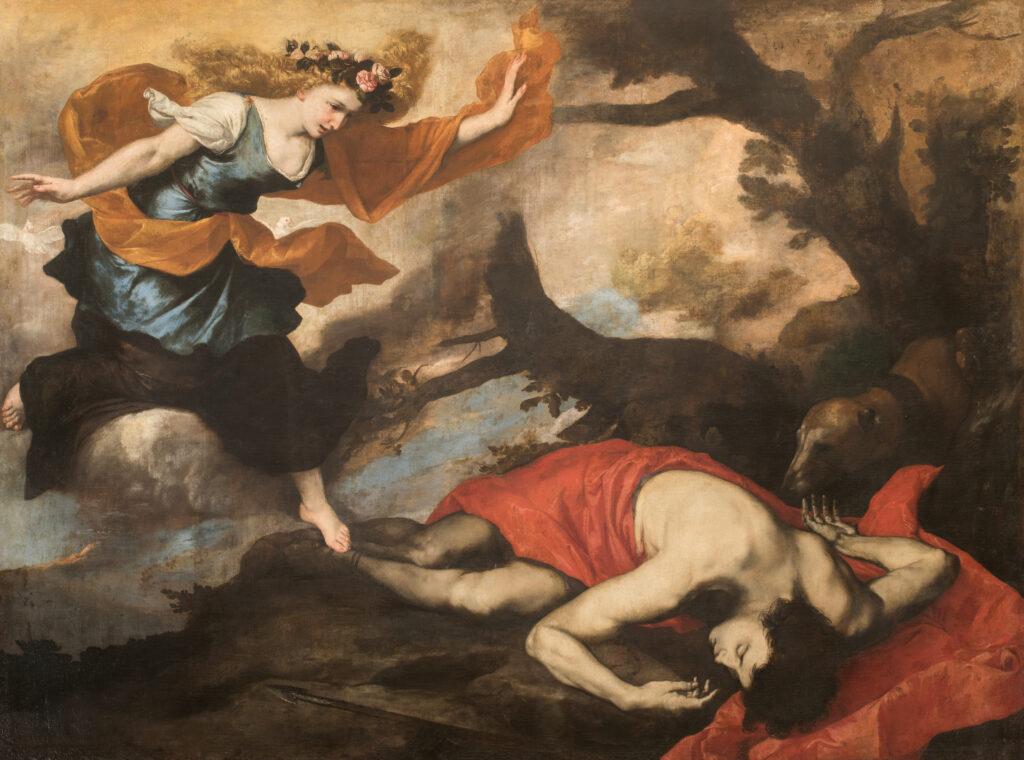 José de Ribera. Venus y Adonis, 1637. Gallerie Nazionali d'Arte Antica di Roma