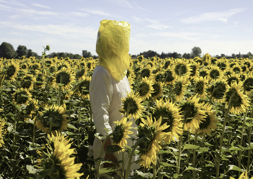 Elina Brotherus. Portrait Series (Gelbe Musik with Sunflowers), 2016. © Elina Brotherus