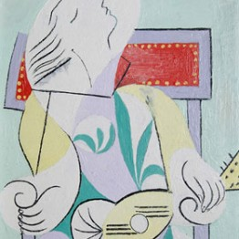 Picasso. Joven con mandolina (Marie-Thérese), 1932