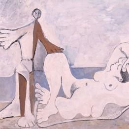 Picasso. Hombre y mujer a la orilla del mar, 1961