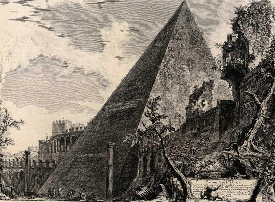 Giovanni Battista Piranesi. Piramide di Cayo Cestio