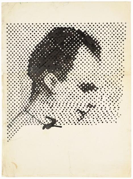 Sigmar Polke. Raster Drawing (Portrait of Lee Harvey Oswald), 1963