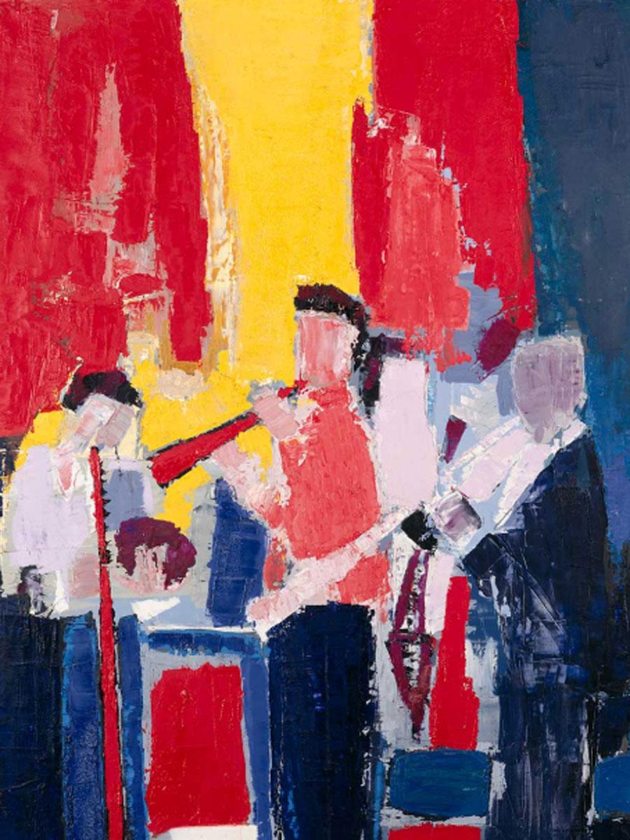 Nicolás de Stäel. Les musiciens. Souvenir de Sidney Bechet, 1952-1953. © CENTRE POMPIDOU, MNAM-CCI/GEORGES MEGUERDITCHIAN/DIST. RMN-GP © NICOLAS DE STAËL, VEGAP, MÁLAGA, 2020