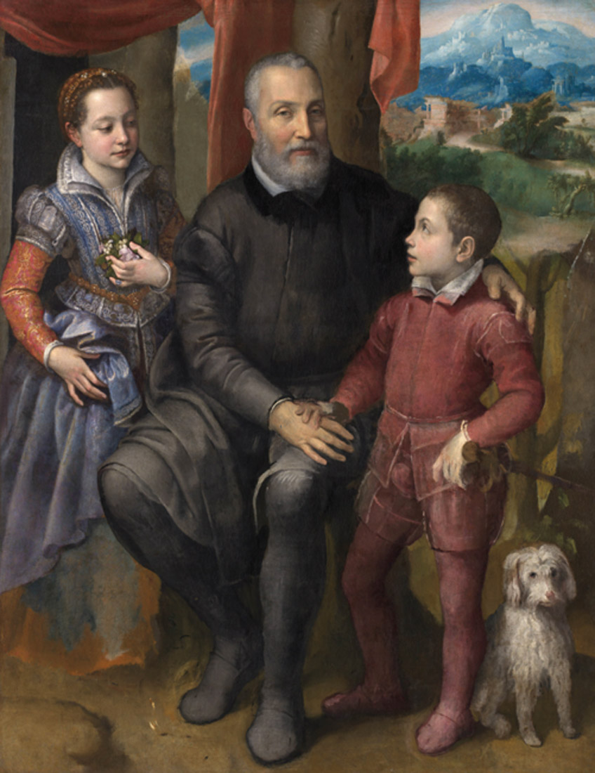 Sofonisba Anguissola. Retrato de familia, hacia 1558. The Nivaagaard Collection