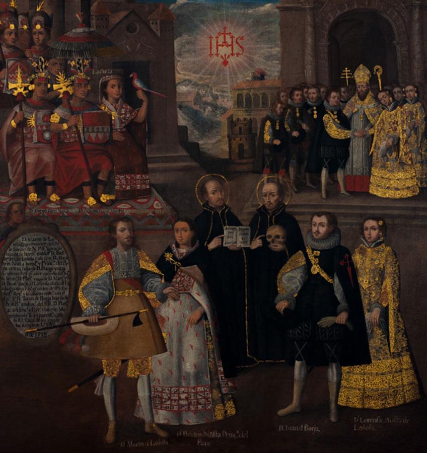 Matrimonios de Martín de Loyola con Beatriz Ñusta y de Juan de Borja con Lorenza Ñusta de Loyola, 1718. Museo Pedro de Osma. Fundación Pedro y Angélica de Osma Gildemeister, Lima