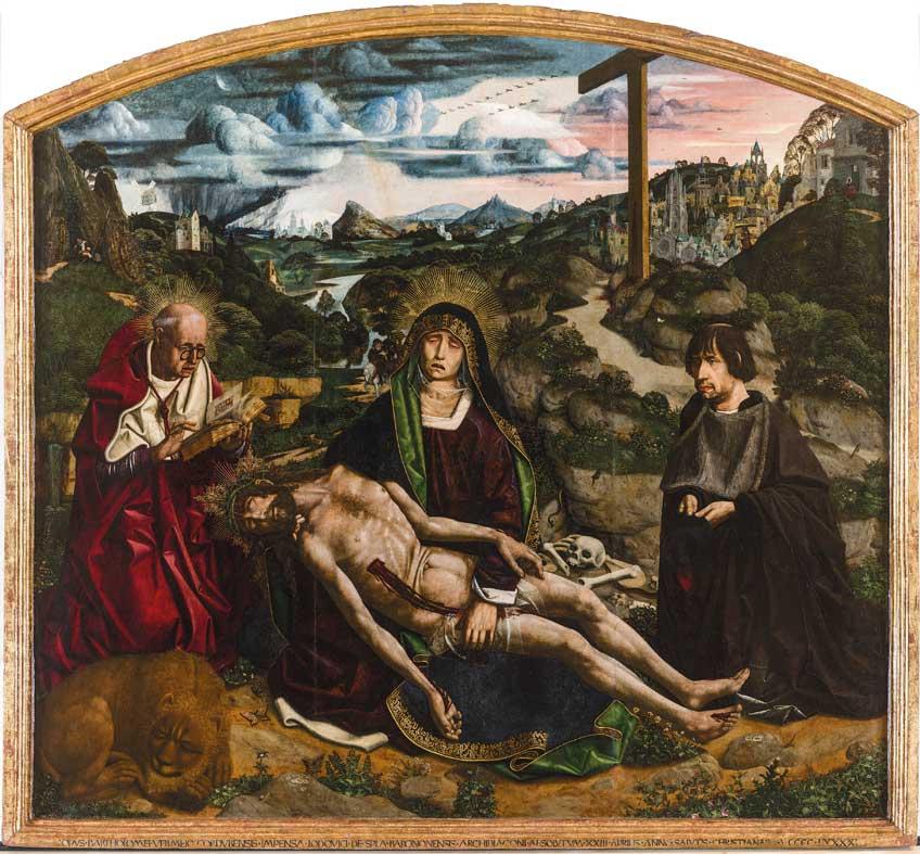 Bartolomé Bermejo. Piedad Desplà. 1490. Catedral de Barcelona
