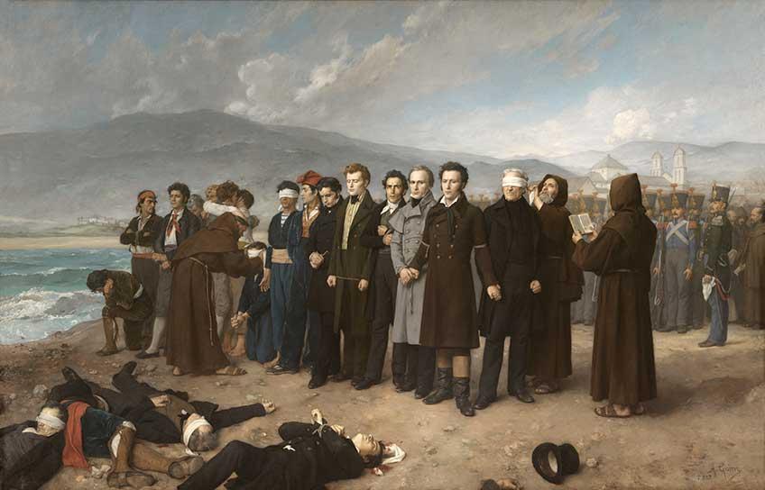 Antonio Gisbert. Fusilamiento de Torrijos y sus compañeros en las playas de Málaga, 1888. Museo Nacional del Prado, Madrid