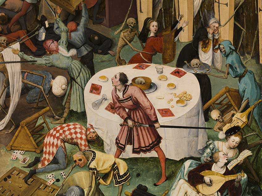 Pieter Bruegel el Viejo. El triunfo de la Muerte, 1562 – 1563. Detalle de la obra tras la restauración. Museo Nacional del Prado, Madrid