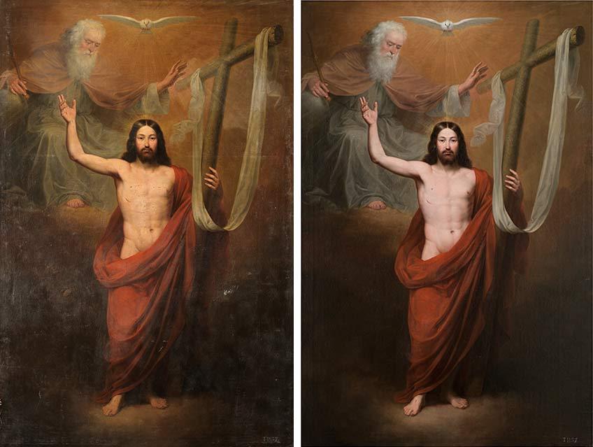 Antonio María Esquivel. El Salvador (antes y después de la restauración), 1842. Madrid, Museo Nacional del Prado