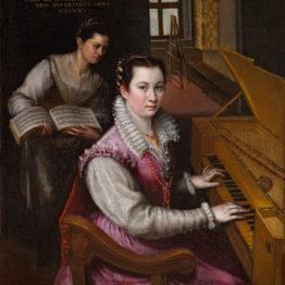 Lavinia Fontana. Autorretrato tocando la espineta, 1557. Accademia Nazionale di San Luca, Roma