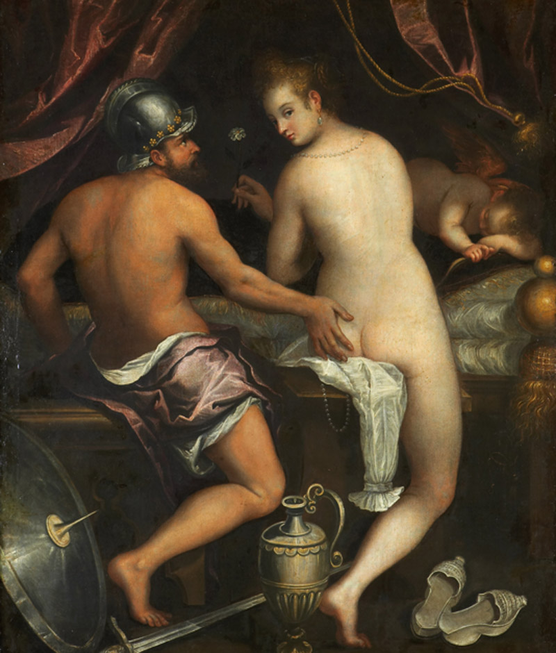 Lavinia Fontana. Marte y Venus, 1600-1610. Fundación Casa de Alba