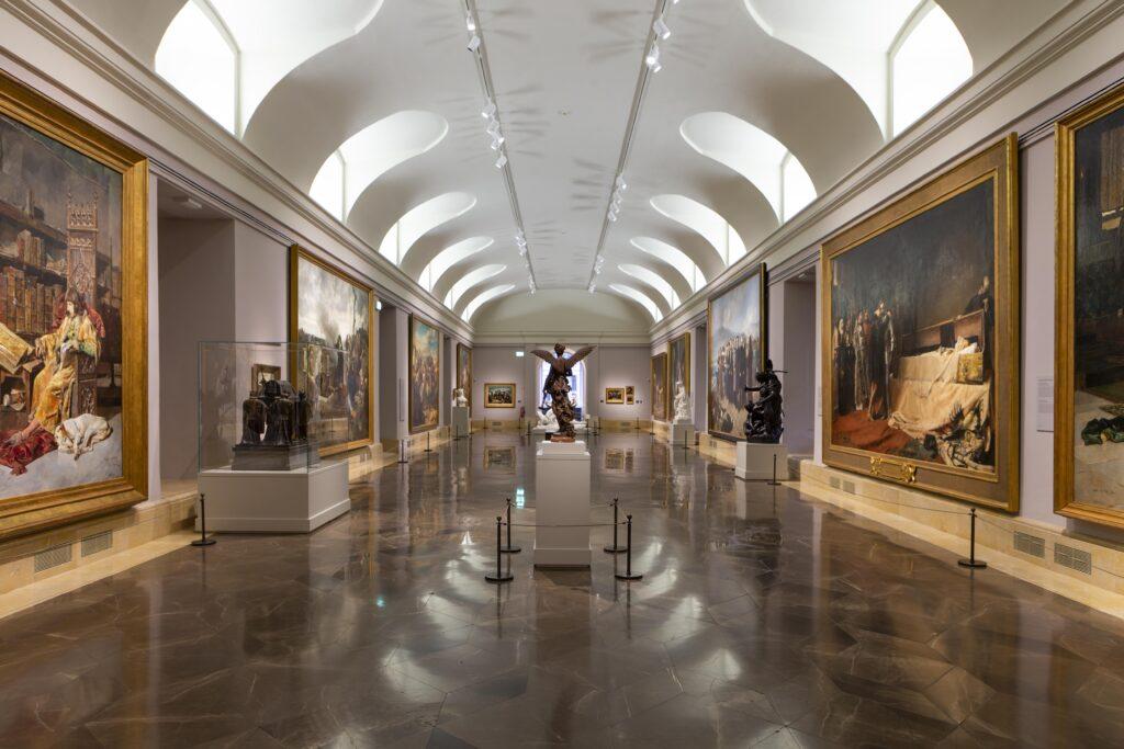 Sala 75 del Museo Nacional del Prado DESPUÉS de la reordenación de la colección del siglo XIX presentada hoy. Pintura de historia. ©Museo Nacional del Prado