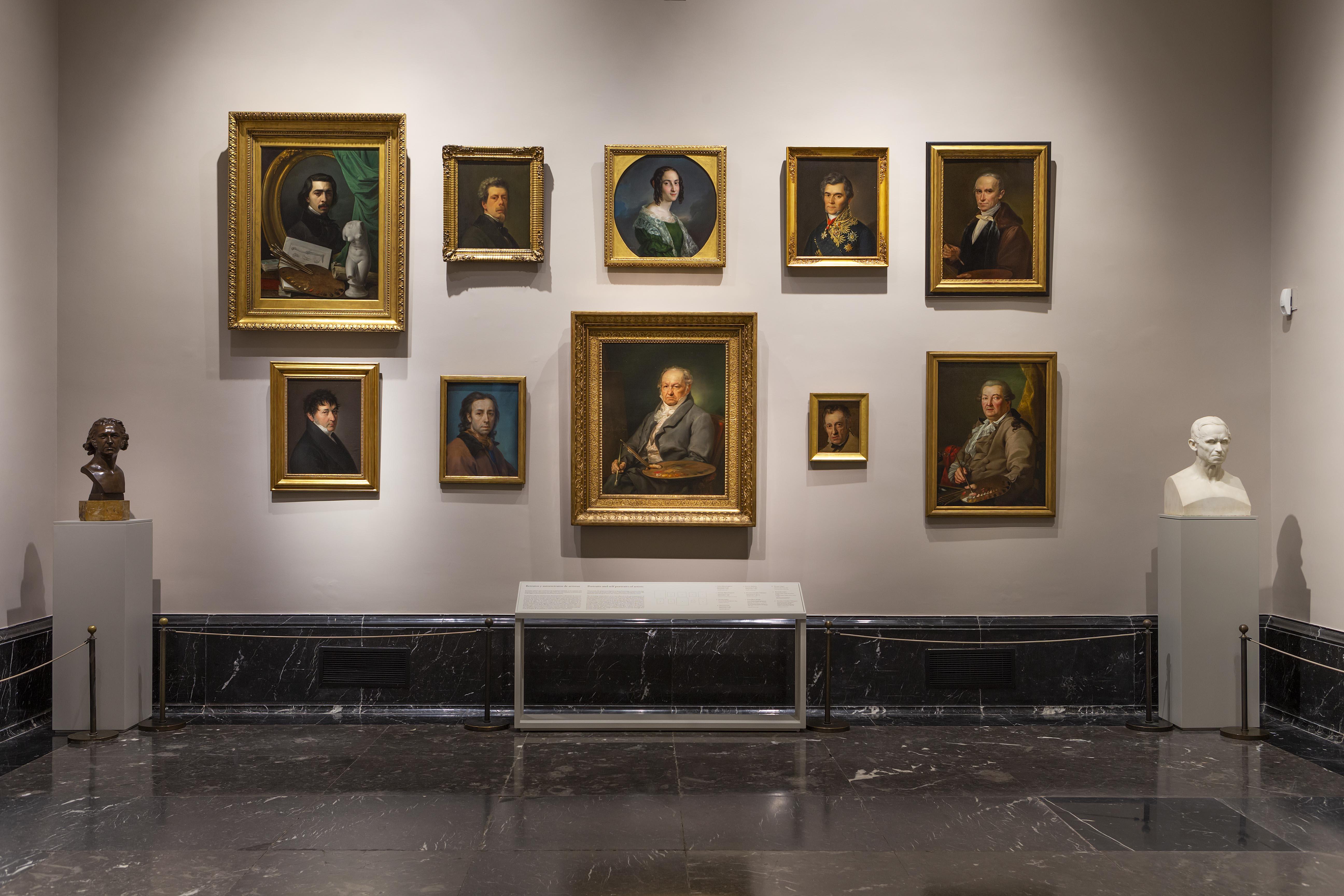 Retratos y autorretratos de artistas. Sala 62 A del Museo Nacional del Prado ©Museo Nacional del Prado