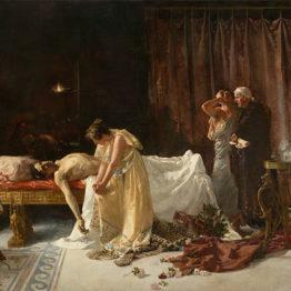 Farsalia reverbera en el Museo Nacional del Prado. La muerte de Lucano de José Garnelo recupera su esplendor tras una profunda restauración