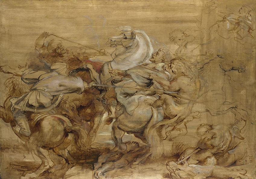 Rubens. La caza del león. Exposición en el Museo del Prado sobre los bocetos de Rubens