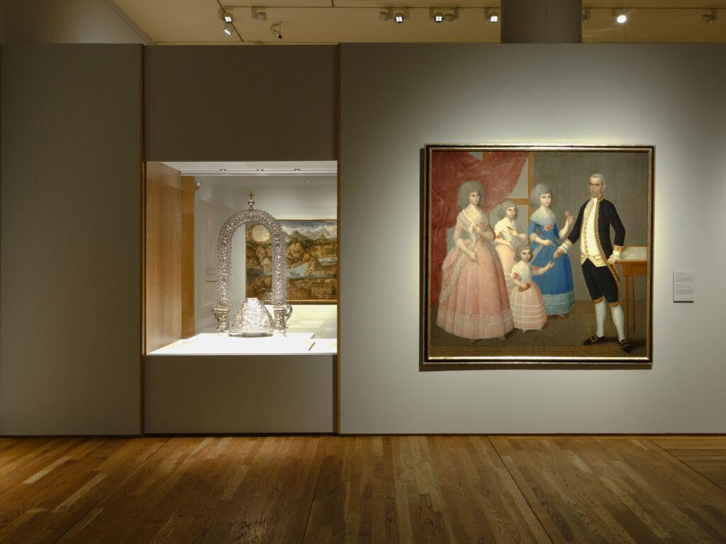 """Imagen de la sala de la exposición """"Tornaviaje. Arte Iberoamericano en España"""". Foto © Museo Nacional del Prado"""