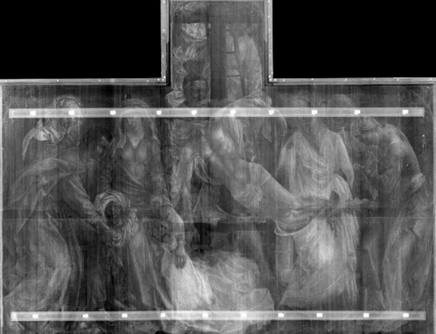 Rogier van der Weyden. El Descendimiento (radiografía). © Museo Nacional del Prado