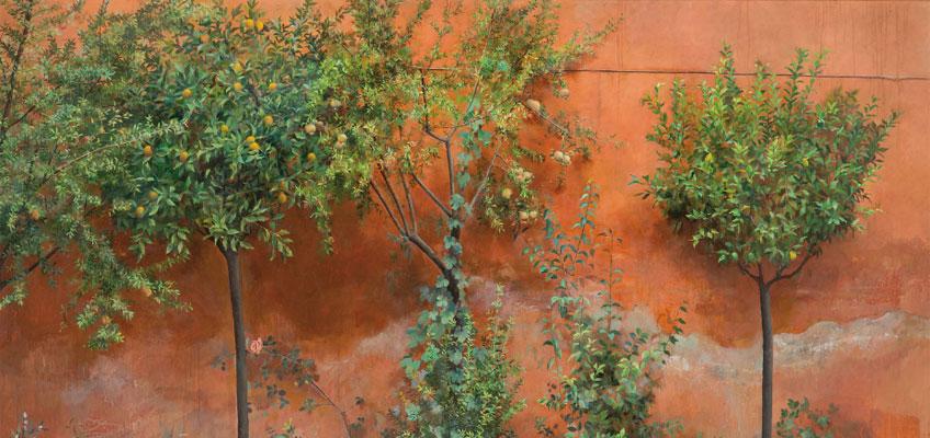 Isabel Quintanilla. Jardín, 1966. Colección privada. Realistas de Madrid