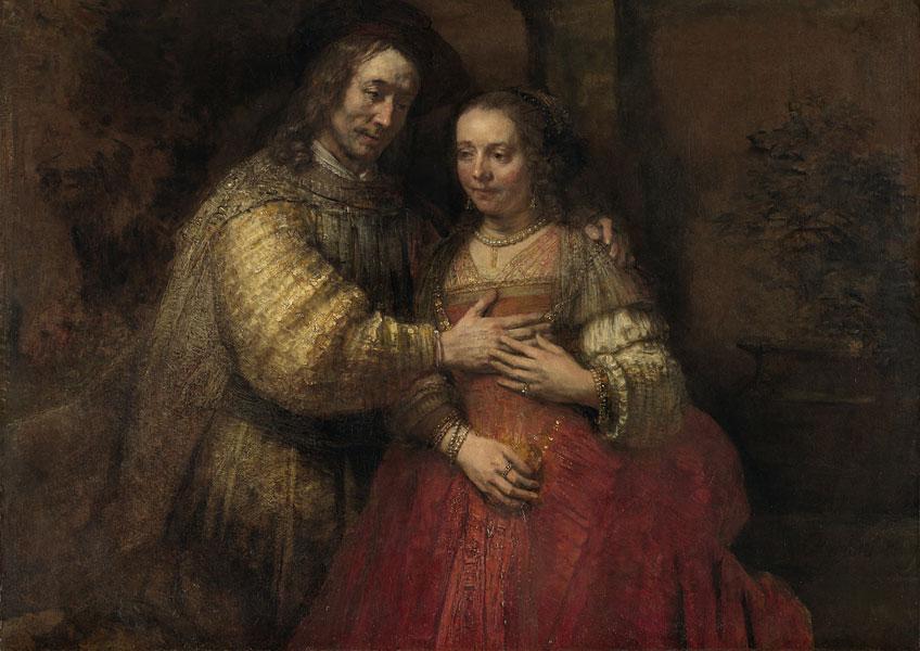 Rembrandt. La novia judía, hacia 1665-1669. Rijksmuseum Ámsterdam