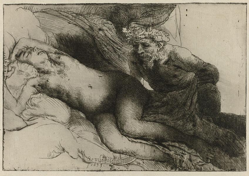 Rembrandt. Jupiter and Antiope, 1659. Rijksmuseum Ámsterdam