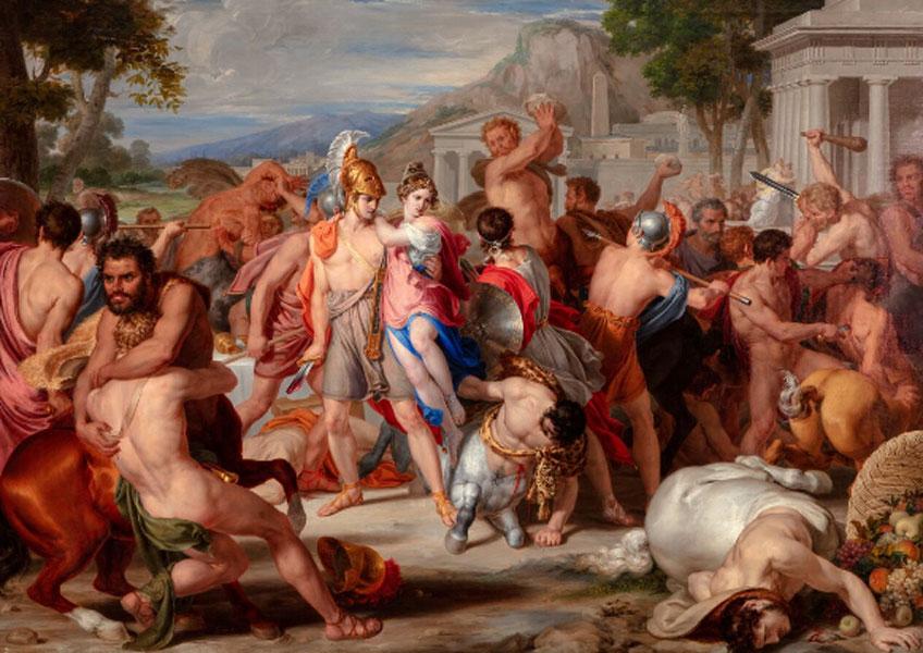 Rafael Tegeo. Combate de lapitas y centauros , 1835, Colección particular. Donación comprometida para la colección del Museo del Prado