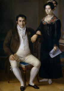 Rafael Tegeo. Pedro Benítez y su hija María de la Cruz , ca. 1820. Museo del Prado