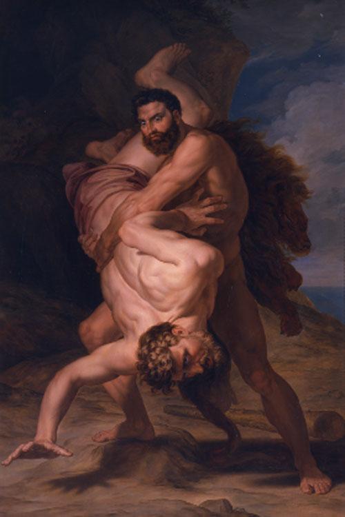 Rafael Tegeo. Hércules y Anteo, 1835-1836. Real Academia de Bellas Artes de San Fernando