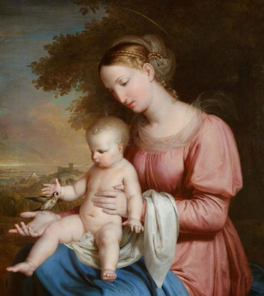 Rafael Tegeo. Virgen del Jilguero , 1825-1828. Museo Nacional del Romanticismo