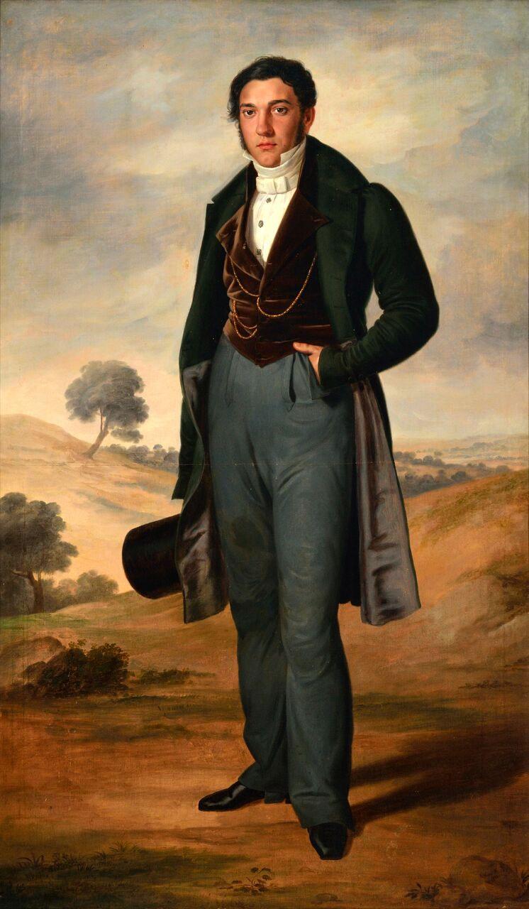 Rafael Tegeo. Retrato de José María Benítez Bragaña , 1832. Museo de Bellas Artes de Murcia