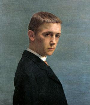 Félix Vallotton. Autoportrait à l'âge de vingt ans, 1885. © Nora Rupp, Musée cantonal des Beaux-Arts de Lausanne