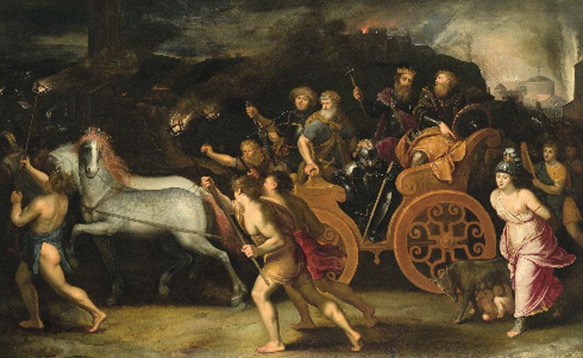 Otto van Veen. La captura de Roma. The Phoebus Foundation