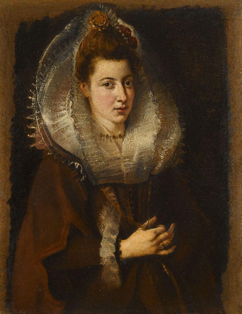 Rubens. Retrato de joven mujer con collar. Colección privada, en préstamo en el MFA Houston