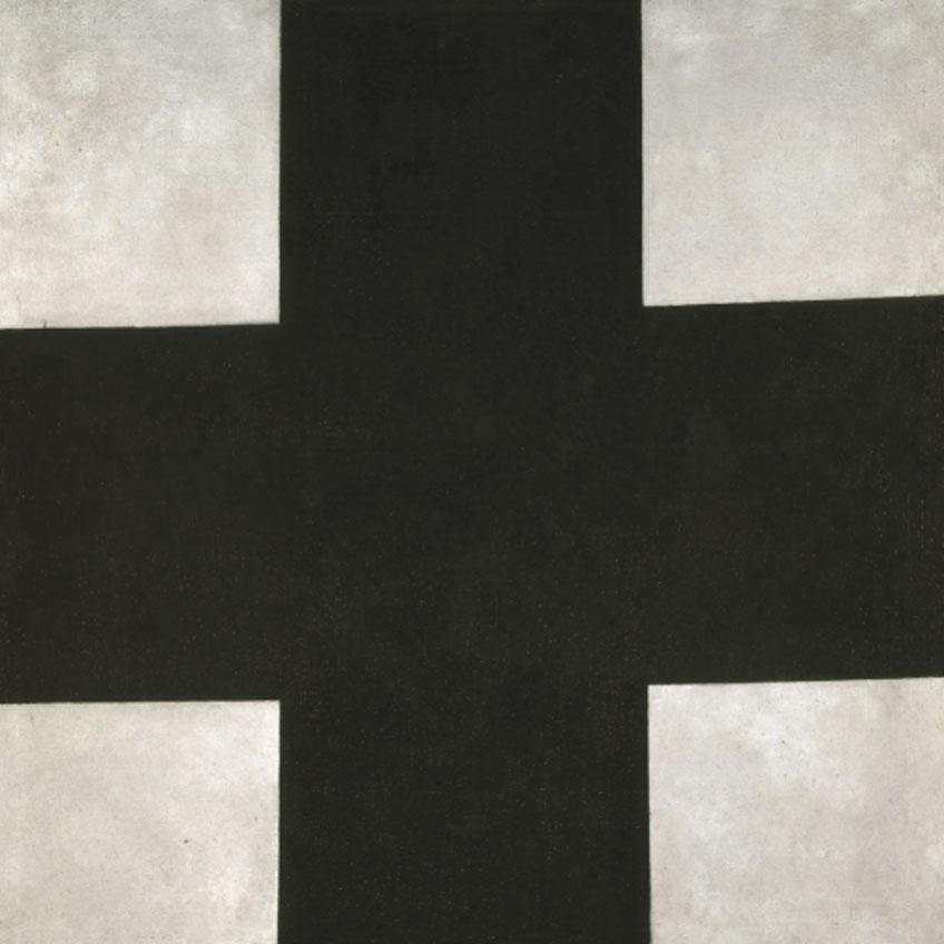 Kazimir Malévich. Cruz negra, hacia 1923. © Museo Estatal Ruso, San Petersburgo