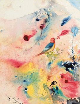 Salvador Dalí. Femme Orientale et oiseau exotique, 1966. Alcolea Nonell