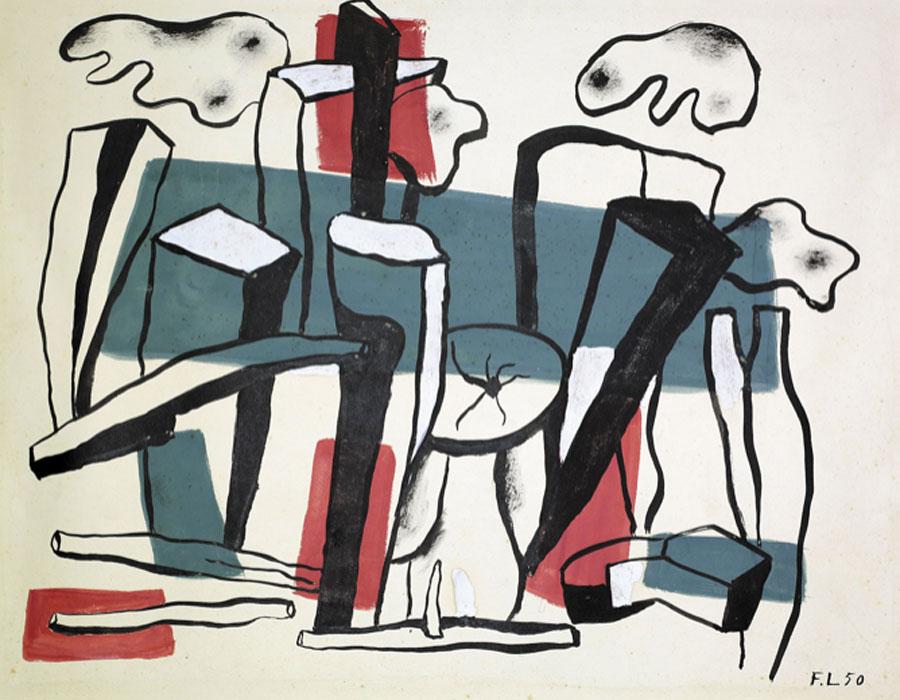 Fernand Léger. Composition aux bûches, 1950. Galería Jordi Pascual