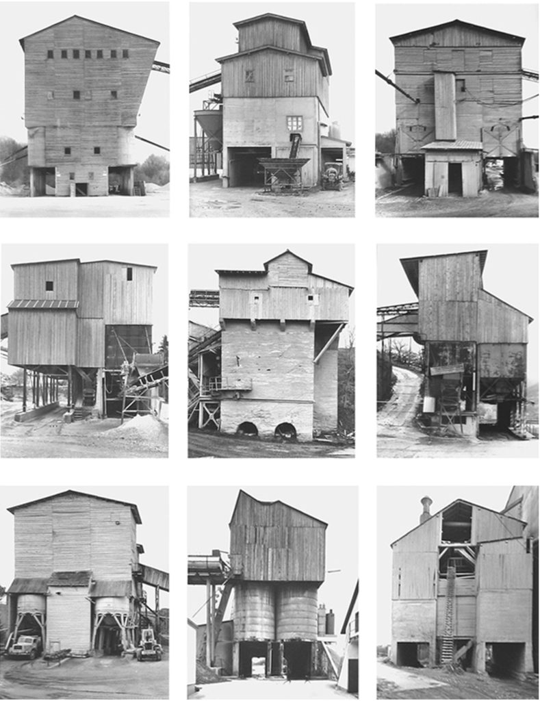 Bernd y Hilla Becher. Gravel Plants. Tipology, 1987-1992. Estate of Bernd & Hilla Becher