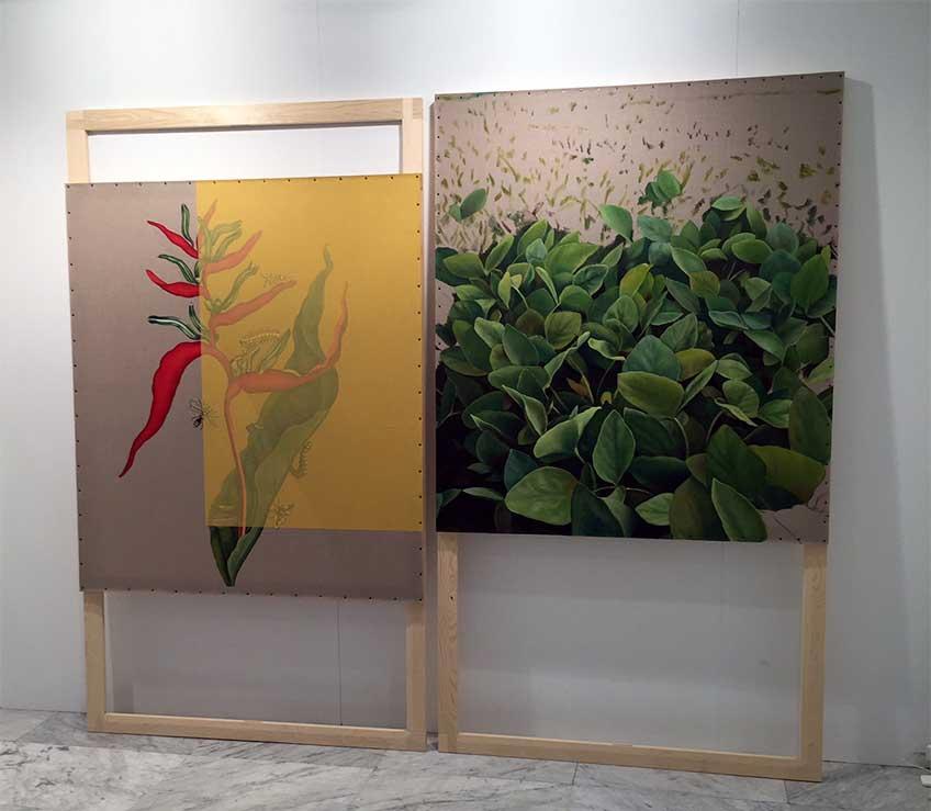 Gabriela Bettini en el estand de la galería Silvestre en JustMAD