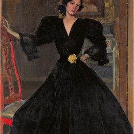 Joaquín Sorolla. Clotilde con traje negro, 1906. The Metropolitan Museum of Art, Nueva York