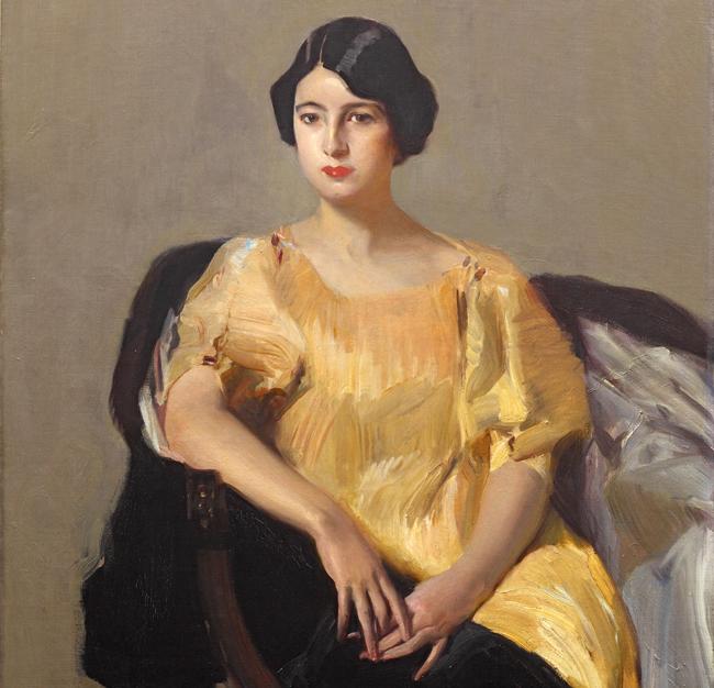 Joaquín Sorolla. Elena con túnica amarilla, 1909. Colección privada