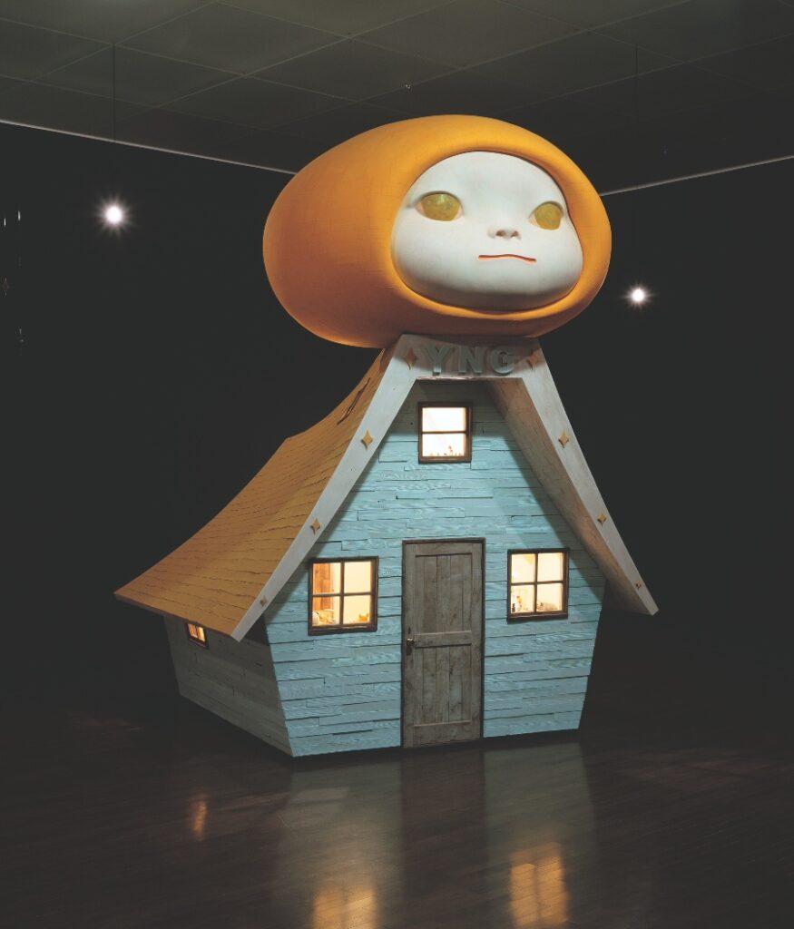 Yoshitomo Nara. Voyage of the Moon (Resting Moon) / Voyage of the Moon 2006. 21st Century Museum of Contemporary Art, Kanazawa