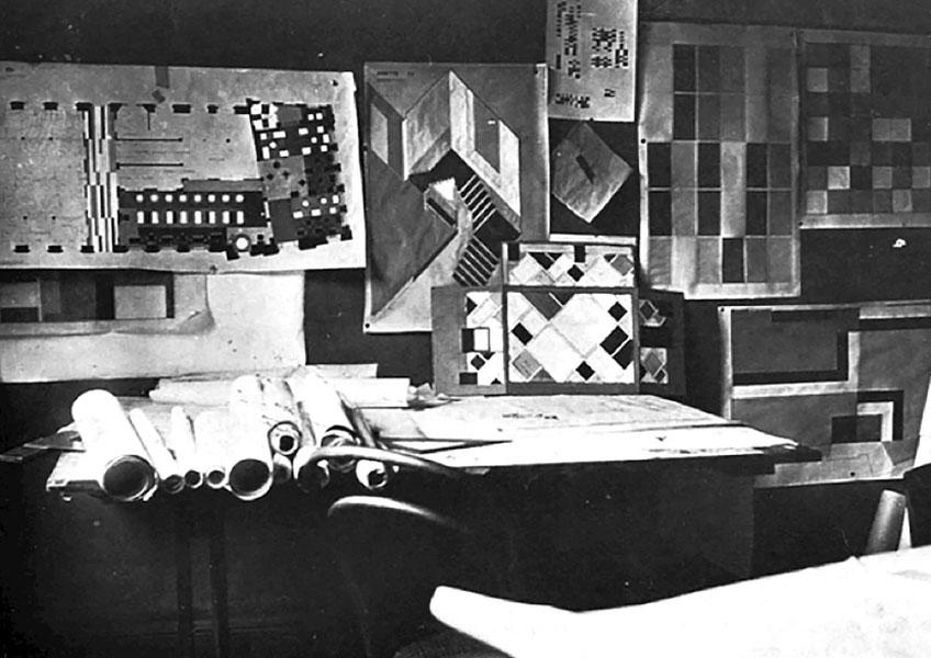 Theo van Doesburg. Diseño para el Café de l´ Aubette. Galerie Gmurzynska