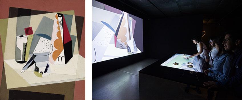 """María Blanchard. Nature morte cubiste (1917) y la instalación digital en """"Intangiibles"""""""