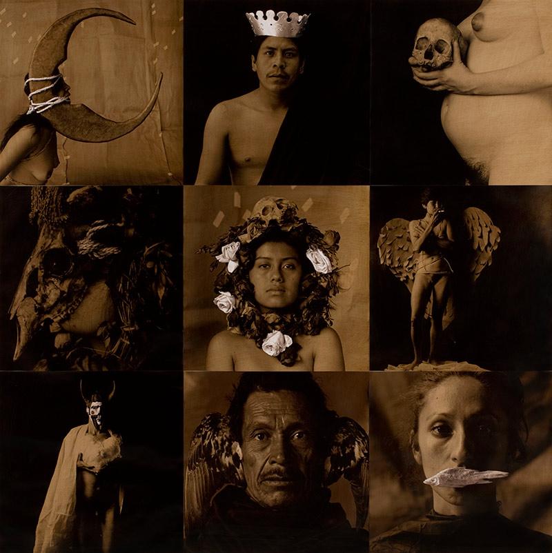 Luis González Palma. La lotería, la luna, el rey la muerte, la máscara, la rosa la dama, el diablo, el pájaro, la sirena. (1988-1991). Cortesía del artista.