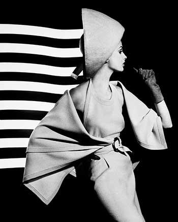 William Klein. Dorothy + white light stripes, Paris 1962