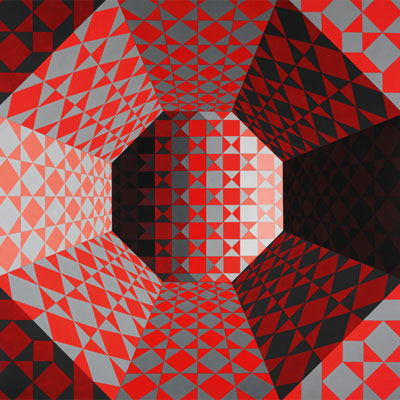 Víctor Vasarely. Bi-Octans, 1979. Vasarely Múzeum, Budapest