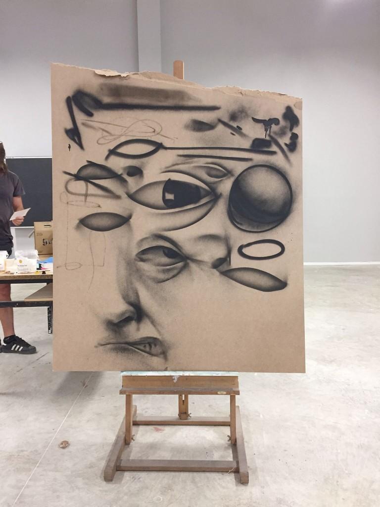 Taller Realismo en espray de Belin en la Universidad de Murcia