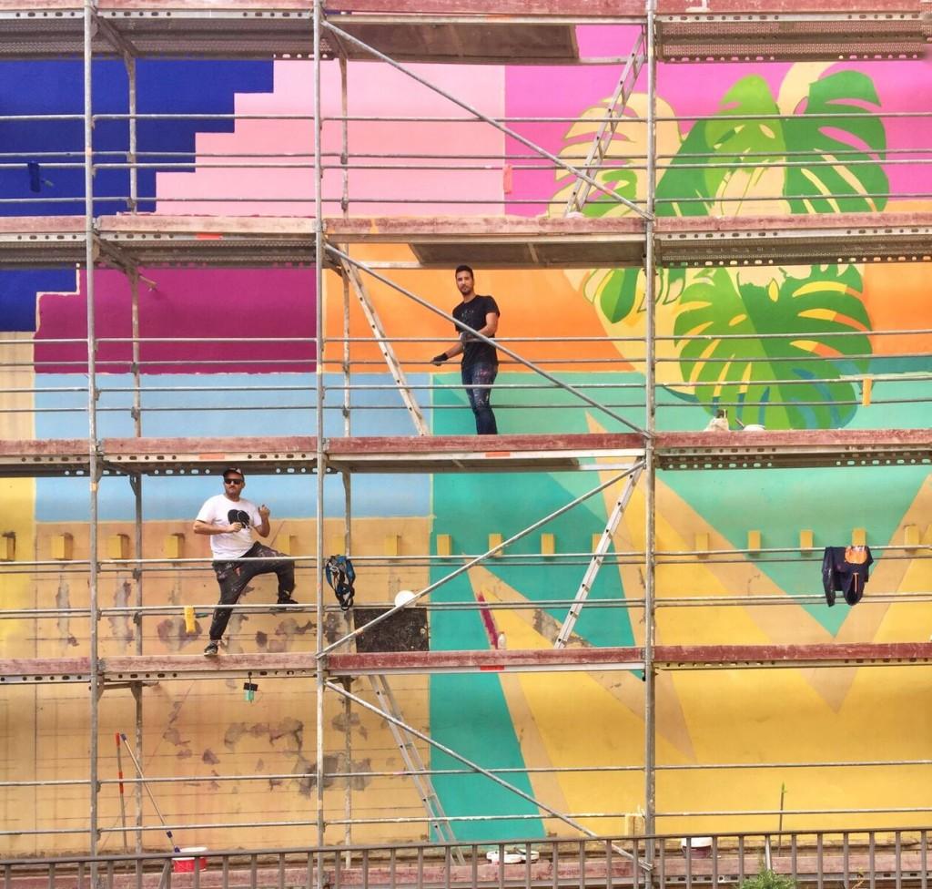Intervención de Antonyo Marest en la Universidad de Sevilla, en el marco de Tuenti Urban Art Project