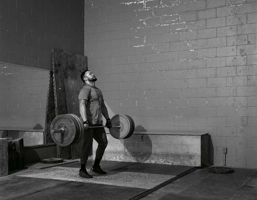 Jeff Wall. Weightlifter, 2015