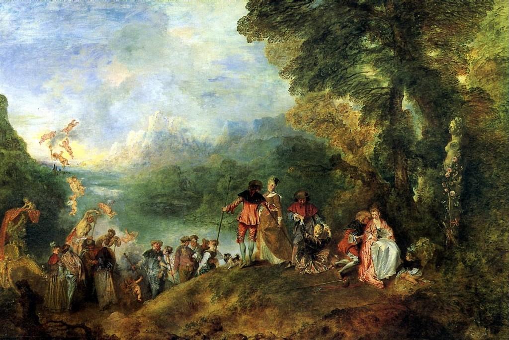 Watteau. Embarcación a Citerea