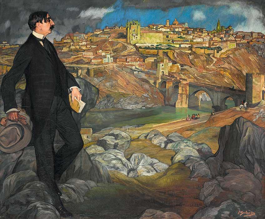 Ignacio Zuloaga. Retrato de Maurice Barres, 1913.